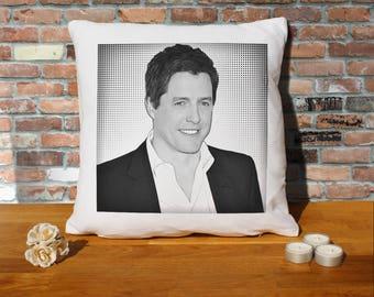 Hugh Grant Pillow Cushion - 16x16in - White