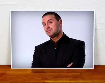 Paddy McGuinness Poster Print - Colour and BW - 2 sizes - A4 and A3