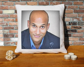 Keegan-Michael Key Pillow Cushion - 16x16in - White