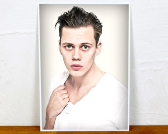 Bill Skarsgard Poster Print - Colour or BW - 2 sizes - A4 and A3