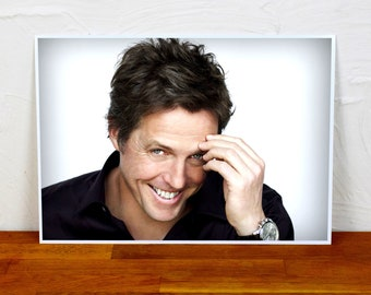 Hugh Grant Poster Print - Colour and BW - 2 sizes - A4 and A3
