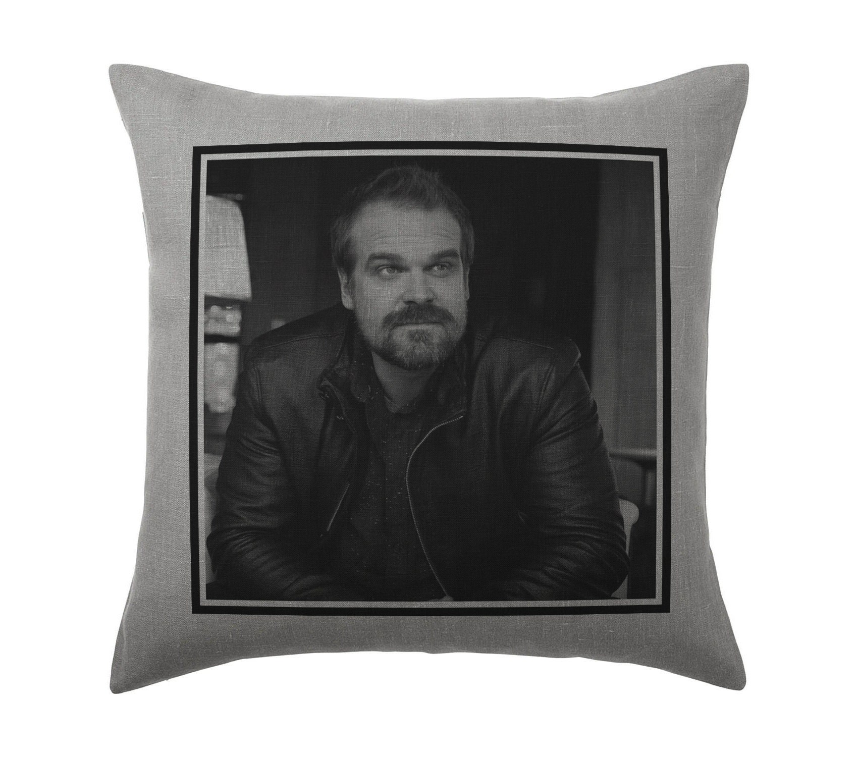 David Harbour Pillow Cushion 16x16in