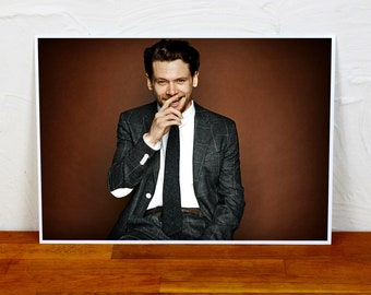 Jack O'Connell Poster Print - Colour and BW - 2 sizes - A4 and A3