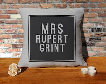 Rupert Grint Pillow Cushion - 16x16in - Grey
