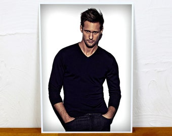 Alexander Skarsgard Poster Print - Colour or BW - 2 sizes - A4 and A3