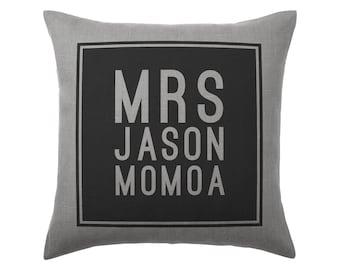 Jason Momoa Pillow Cushion - 16x16in - Grey