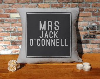 Jack O'Connell Pillow Cushion - 16x16in - Grey
