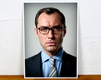 Jude Law Poster Print - Colour and BW - 2 sizes - A4 and A3
