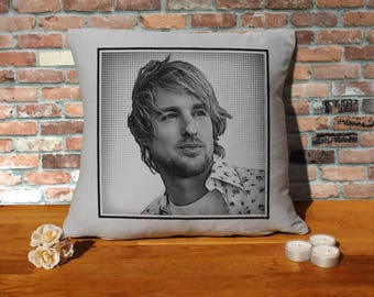 Owen Wilson Pillow Cushion - 16x16in - Grey