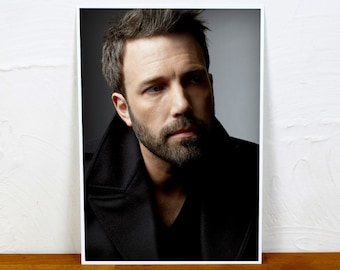 Ben Affleck Poster Print - Colour or BW - 2 sizes - A4 and A3