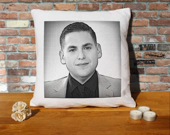 Jonah Hill Pillow Cushion - 16x16in - White