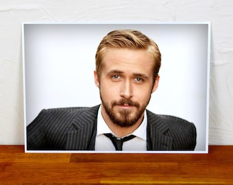 Ryan Gosling Poster Print - Colour and BW - 2 sizes - A4 and A3