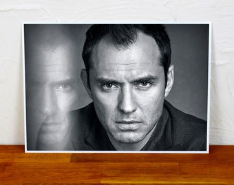 Jude Law Poster Print - 2 sizes - A4 and A3