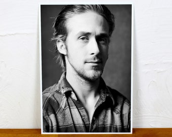 Ryan Gosling Poster Print - 2 sizes - A4 and A3