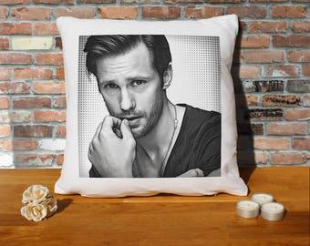 Alexander Skarsgard Pillow Cushion - 16x16in - White