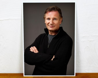 Liam Neeson Poster Print - Colour and BW - 2 sizes - A4 and A3