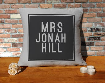 Jonah Hill Pillow Cushion - 16x16in - Grey