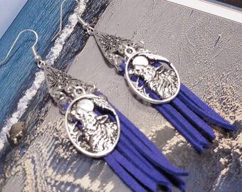 """""""Wolf in Alaska"""" earrings"""