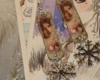 Sweet winter earrings
