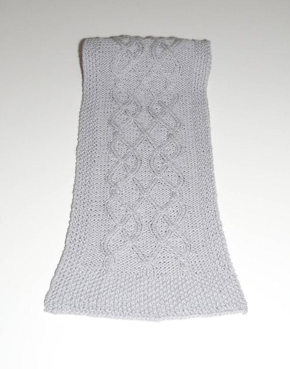 Patron tricot écharpe, patron tricot écharpe à torsades, patron ...