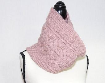Knitting pattern cowl, cable knit cowl pattern, knitting pattern snood, knit neckwarmer pattern, pdf knitting pattern