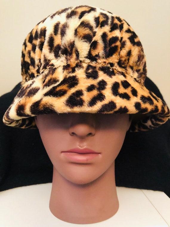 1950's Vintage  Handmade Leopard Print Pillbox Hat