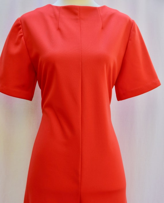 Vintage 1970s Handmade Polyester Orange Catsuit/Ju
