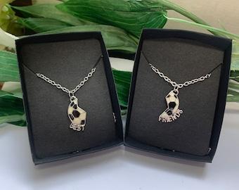 Boys Best Friends football Necklace, Best Friend pendants for boys, boys birthday gifts, Best Friend Football gifts
