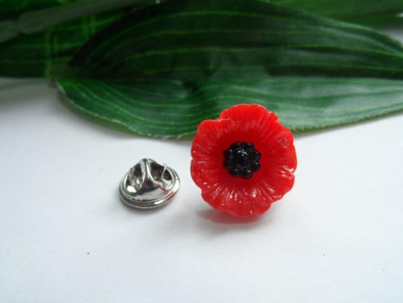 Poppy Lapel Pin, Poppy Tie Pin, Flower Lapel Pin, Poppy Hat Pin, Lapel Pin,  Poppy Brooch