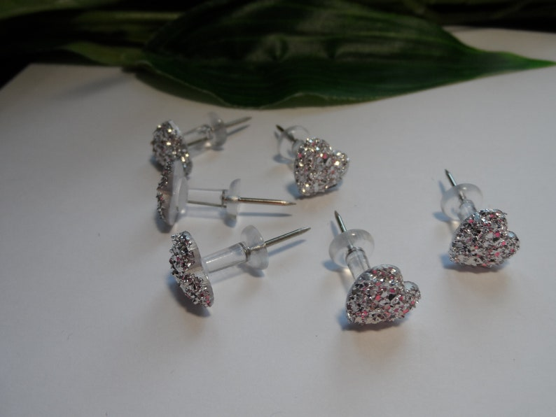 Decorative Push Pins Novelty Push pins Bling Heart Push Pins Bridal Push Pins Novelty Push Pins Teacher Gifts