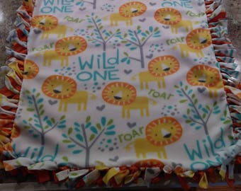 Wild One Knotted Lion Blanket