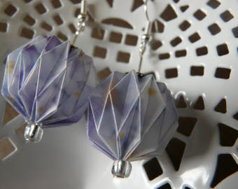 Origami, forget-me-not tracing paper Lantern balls earrings