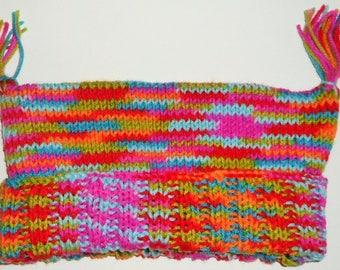 Fun Hand Knit Hat