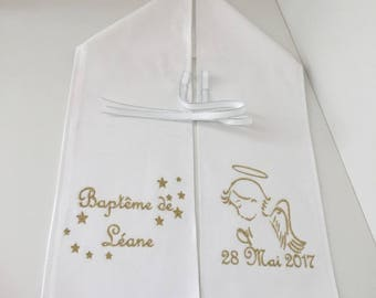 Personalized baptism scarf, name, models Angel, color choice, personalized scarf, baptism boy embroidery