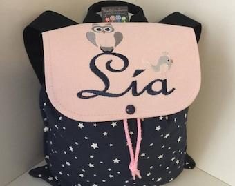 OWL child nursery or school backpack