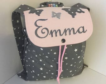Backpack butterfly nursery or crib size 2/3 years