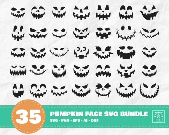 Pumpkin Face SVG Bundle Halloween svg Halloween Pumpkin