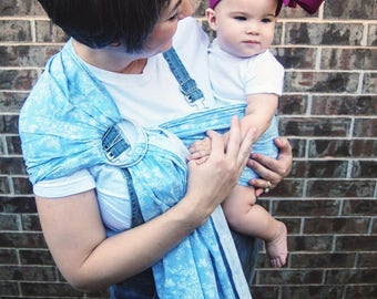Small Chambray Butterfly Ring Sling