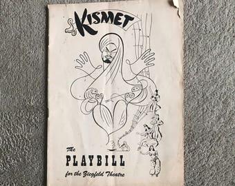 Playbill Kismit The Playbill for the Zeigfeld Theatre