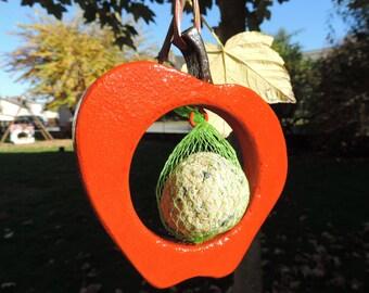 """""""Red Apple"""" bird feeder, door-ball door seed bird seeds"""