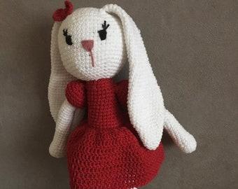 Rabbit plush toy crochet handmade