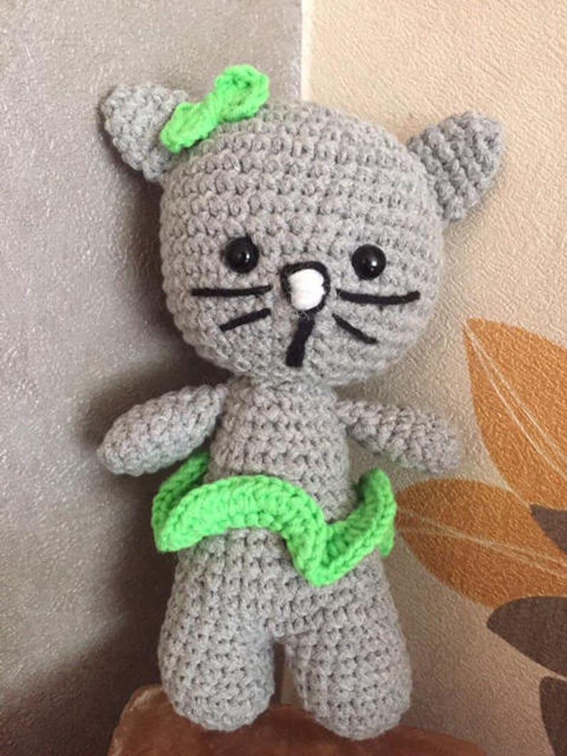 Toy plush cat crochet handmade amigurumi
