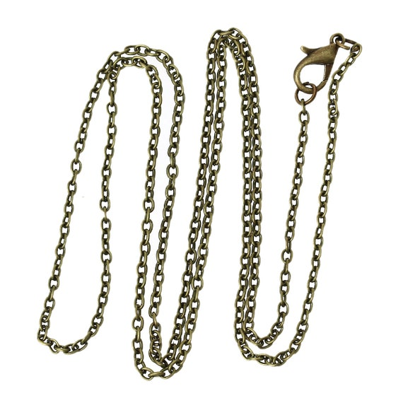 1 chain - iron alloy - bronze - 62 cm in length