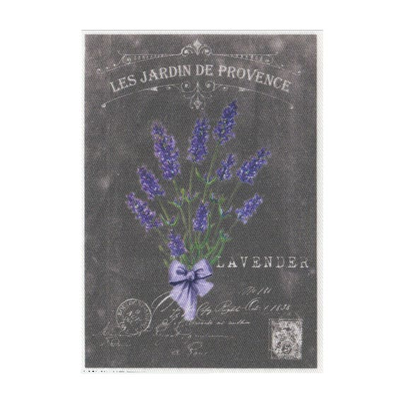"Applied fusible - Collection ""Lavender background chalk"" AT404-7"