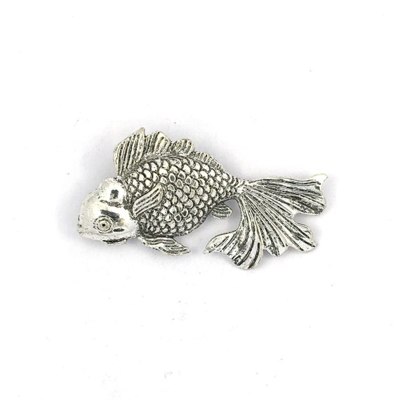 """Great charm - silver tone """"fish"""""""