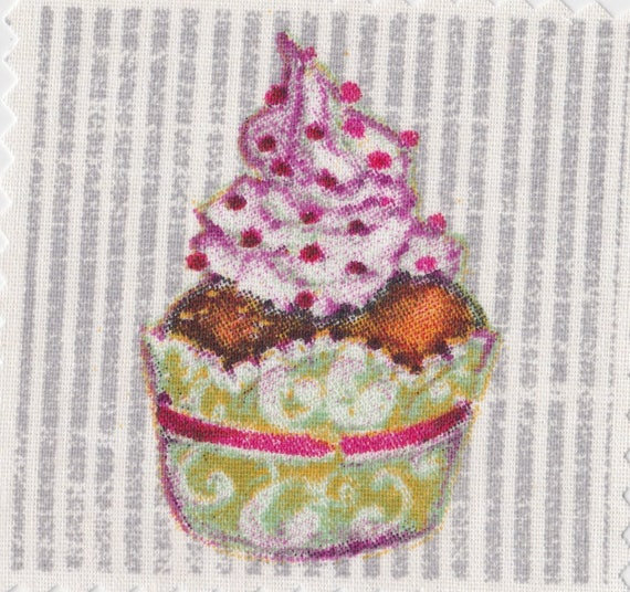 Cup cake 13 - applied fusible to fix to iron