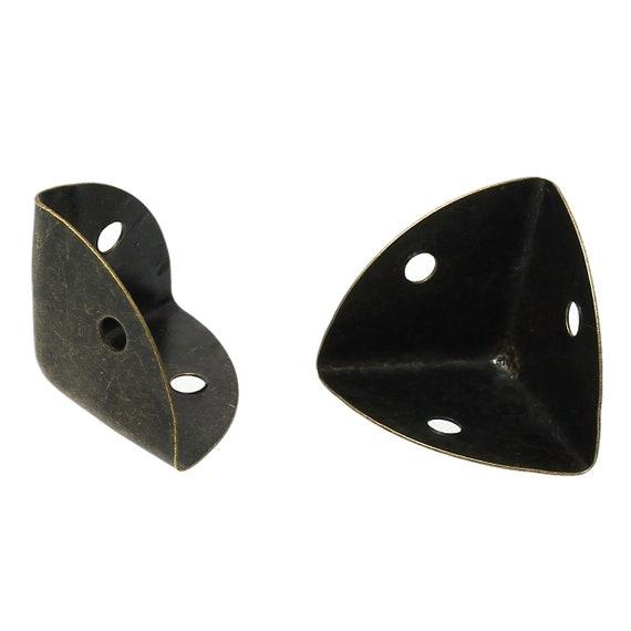 Set of 4 corners / angles - bronze - size: 25 mm