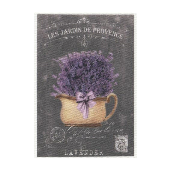 "Applied fusible - Collection ""Lavender background chalk"" AT404 3"