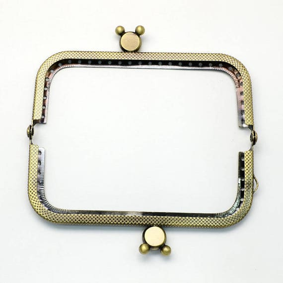 1 door clasp coin - bronze - size: 60 x 107 mm x 11 mm