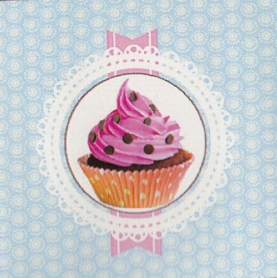 """CUP CAKE 2: coupon TWILL of cotton pattern """"cup cake"""""""